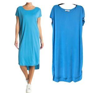 Scoop U Neck Casual Midi T-Shirt Dress NWT!